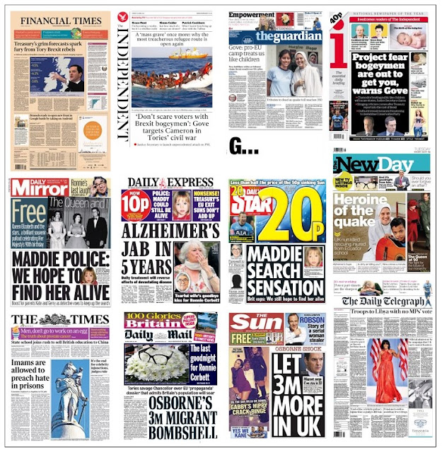 front pages 19-04-16