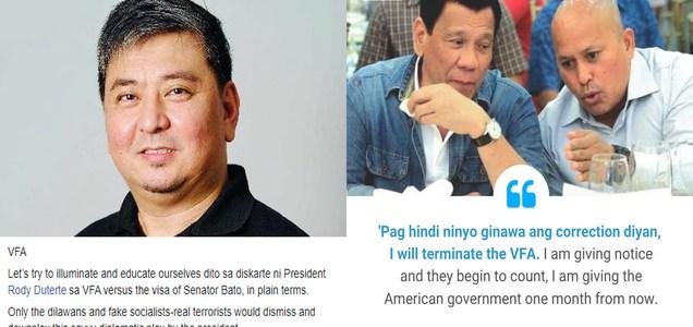 Radio host shares simple yet brilliant explanation of logic behind President Duterte's threat of scrapping VFA agreement vs Senator Bato's US visa | Pinoy Trending