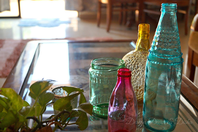 How to color glass jars and bottles