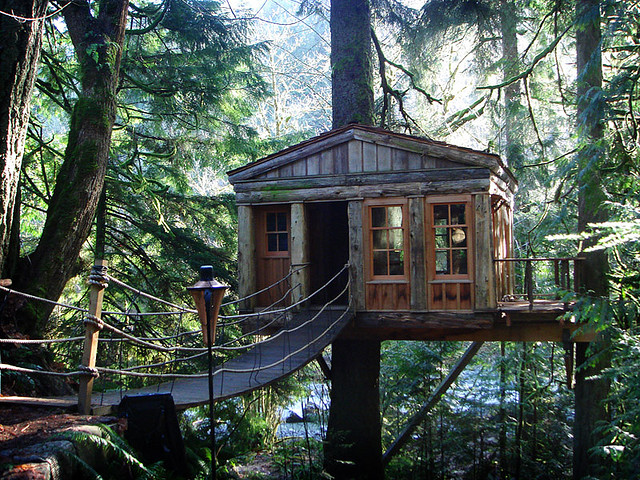 Home styles tree houses style design for How to build a treehouse roof