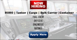 Seaman job RORO, Tanker, Cargo, Bulk Carrier, Container Vessel