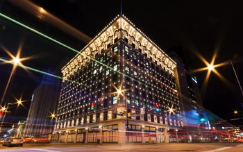 Wallpaper: Night lights in downtown