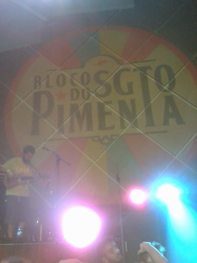 Bloco do Sargento Pimenta se apresentou no Cine Joia