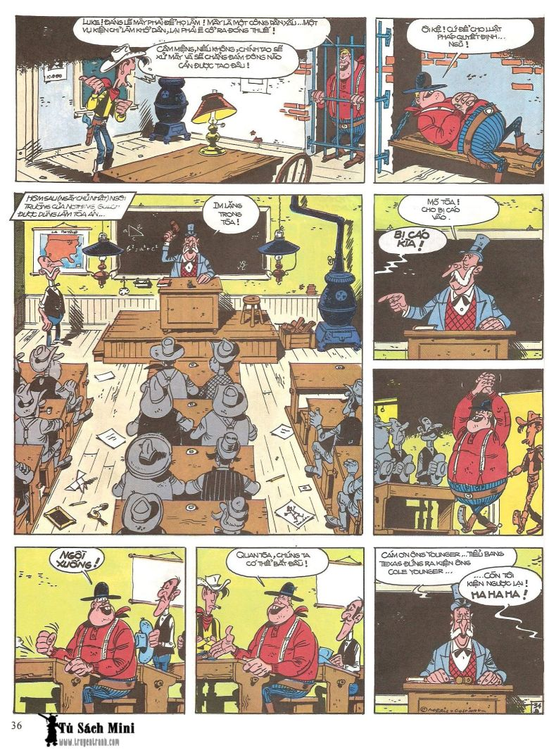 Lucky Luke tap 16 - jesse james hiep si rung xanh trang 38