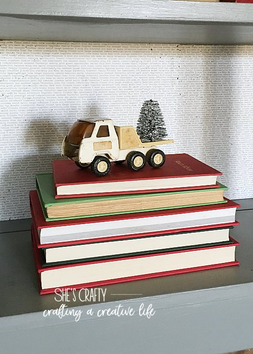 vintage books, child's truck