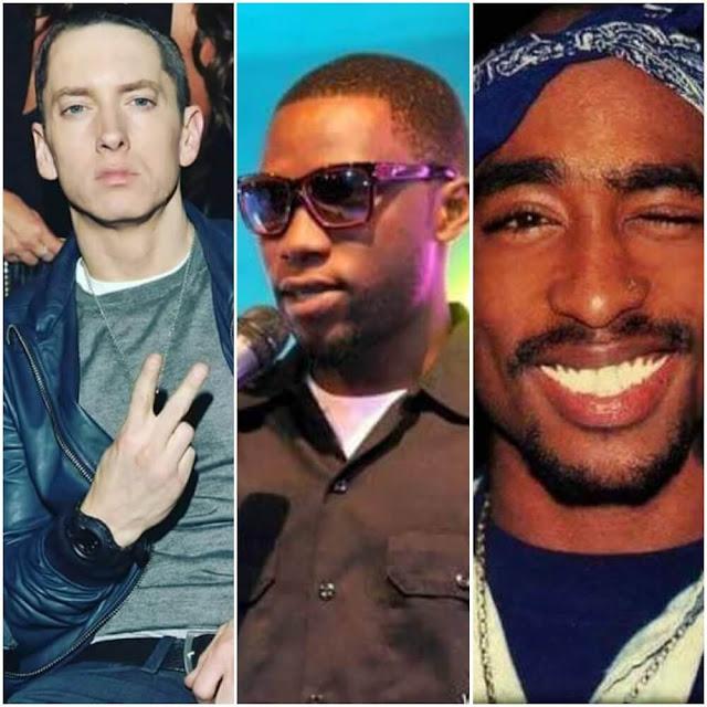 Eminem, Roma Mkatoliki na 2Pac Shakur| Photo Courtesy| Changez Ndzai