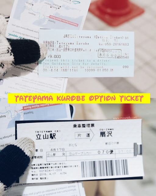harga tiket taeyama kurobe alpine route