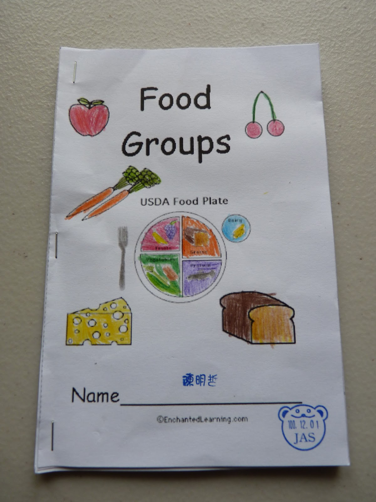 Babel School In Taiwan Food Groups