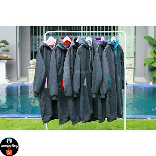 HJ11 Hijacket BASIC Grey x Turkish ORIGINAL PREMIUM FLEECE JAKET HIJAB JAKET MUSLIMAH