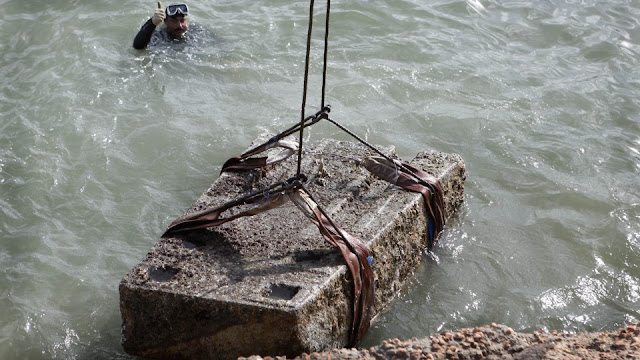 Egypt's sunken antiquities threatened by ship waste