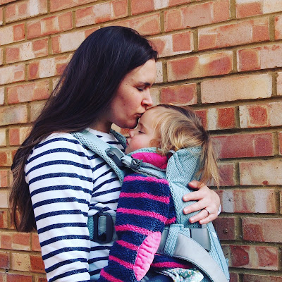 We love baby wearing! Lottie fast asleep in the Baby Bjorn Carrier One Air