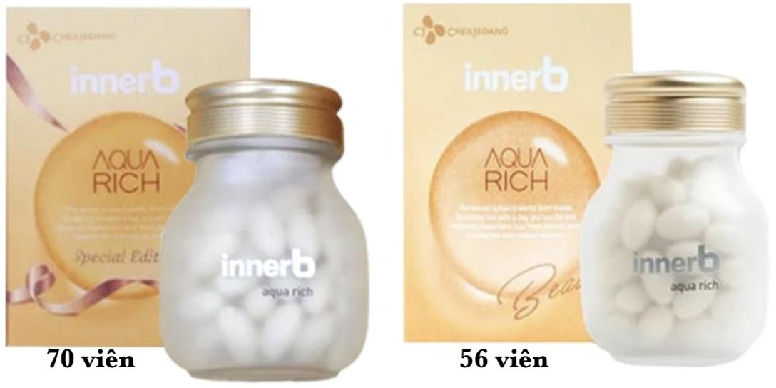 Innerb Aqua Rich - viên uống cấp nước và bổ sung Collagen