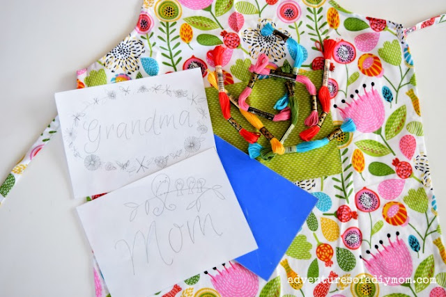 Supplies Needed for Mother's Day Apron