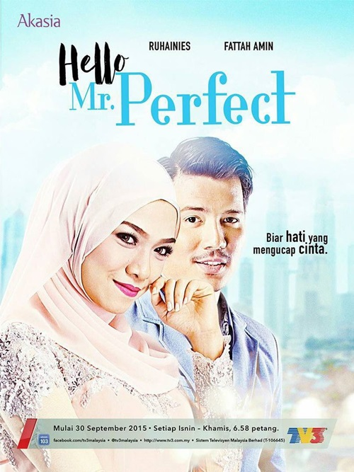 Sinopsis Hello Mr Perfect drama tv3 slot akasia, pelakon dan gambar drama Hello Mr Perfect tv3, ost lagu tema drama Hello Mr Perfect tv3, gambar novel Hello Mr Perfect