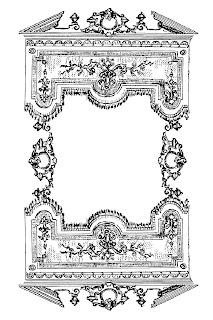 frame border printable image decorative clipart illustration