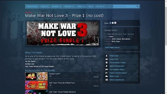 Make War Not Love 3 Prize Bundle