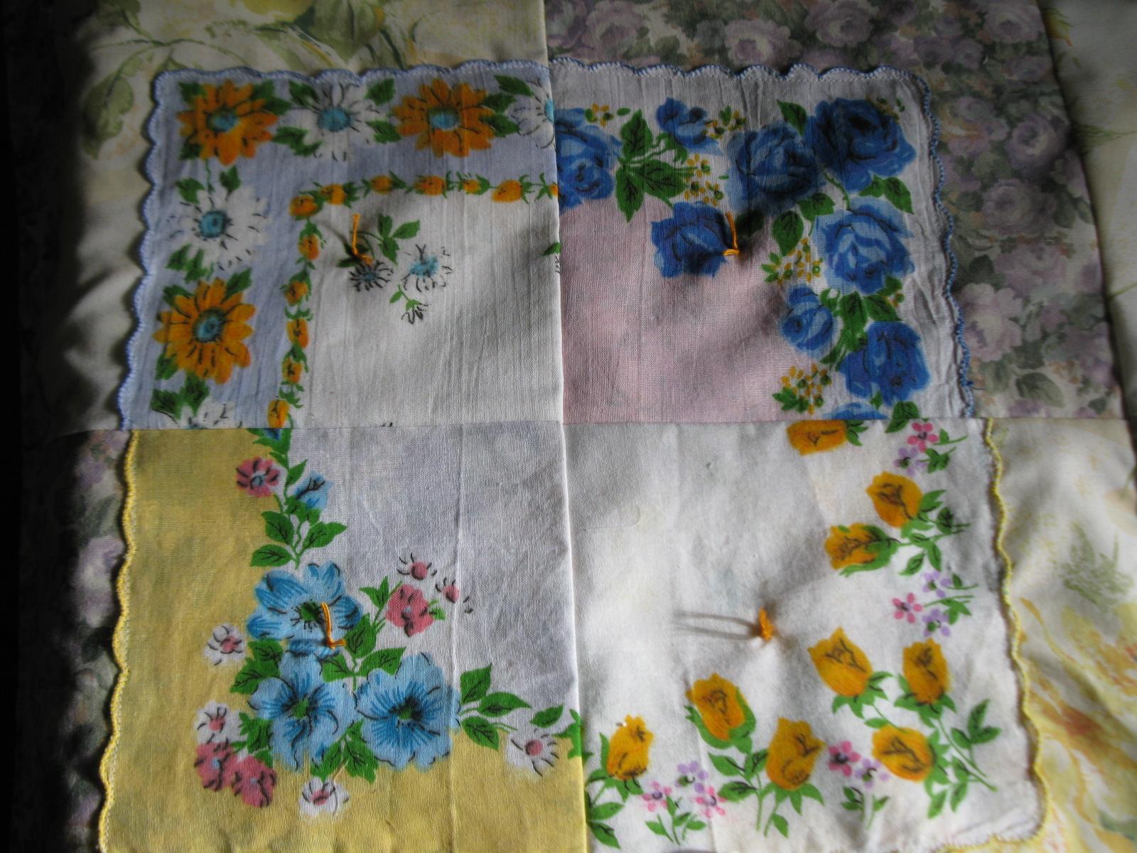 Simply Homemaking Vintage Hankie Baby Quilt