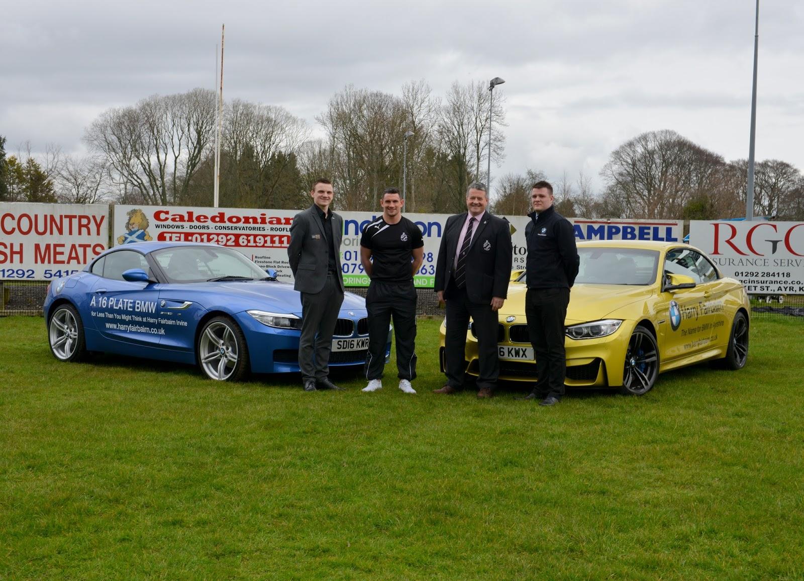 Ayr Rugby Club Latest News Harry Fairbairn BMW teams up with Ayr RFC