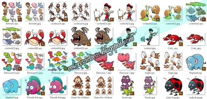 PACK DE VECTORES DE ANIMALES