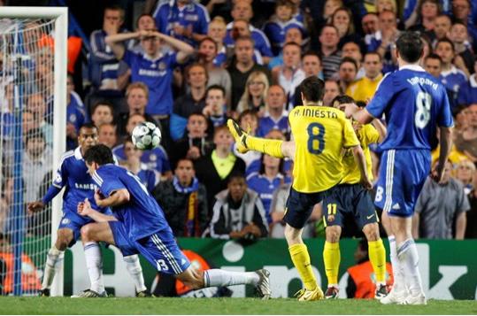 Đó là bàn thắng quyết định đánh bại Chelsea tại Champions League 2009
