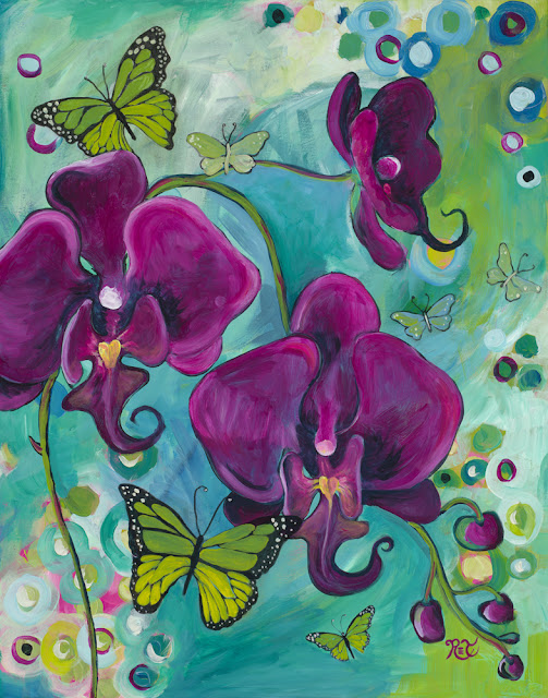 "New painting, ""Dancing Butterflies""."