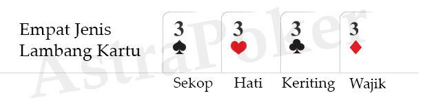 tingkatan lambang bada kartu poker