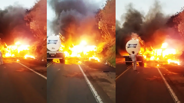 Acidente grave entre caminhão tanque e ônibus mata mais de 20 pessoas no Paraná