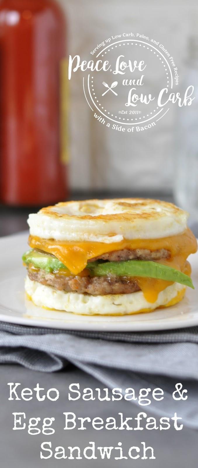 KETO SAUSAGE AND EGG BREAKFAST SANDWICH RECIPE