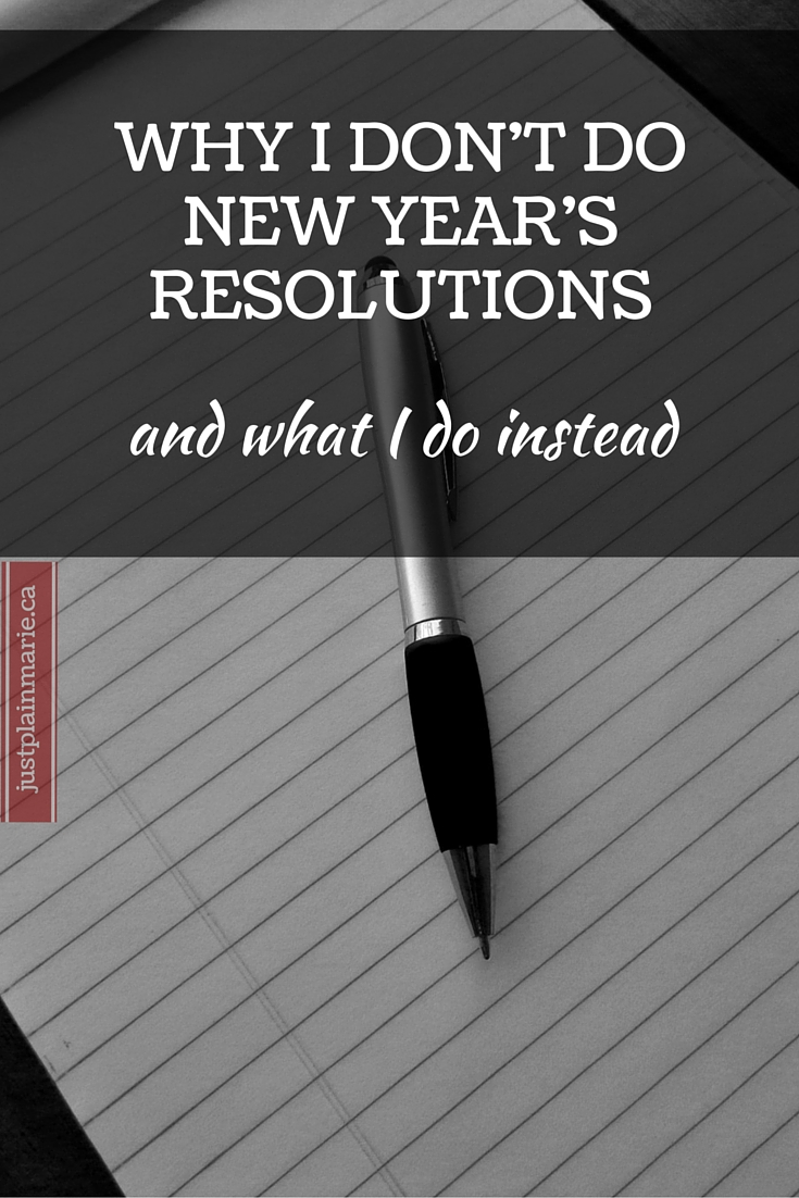 New Year's Resolutions don't work. Here's what does.