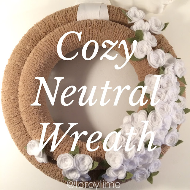 Cozy Neutral Wreath - DIY - LeroyLime
