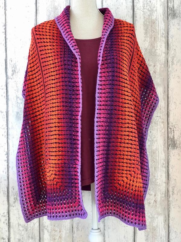 Sunrise Shawl - FREE crochet pattern by Jellina Creations