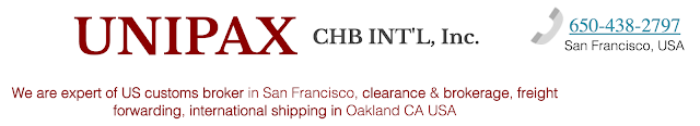 custom duty, import broker, shipping logistics in San Francisco CA