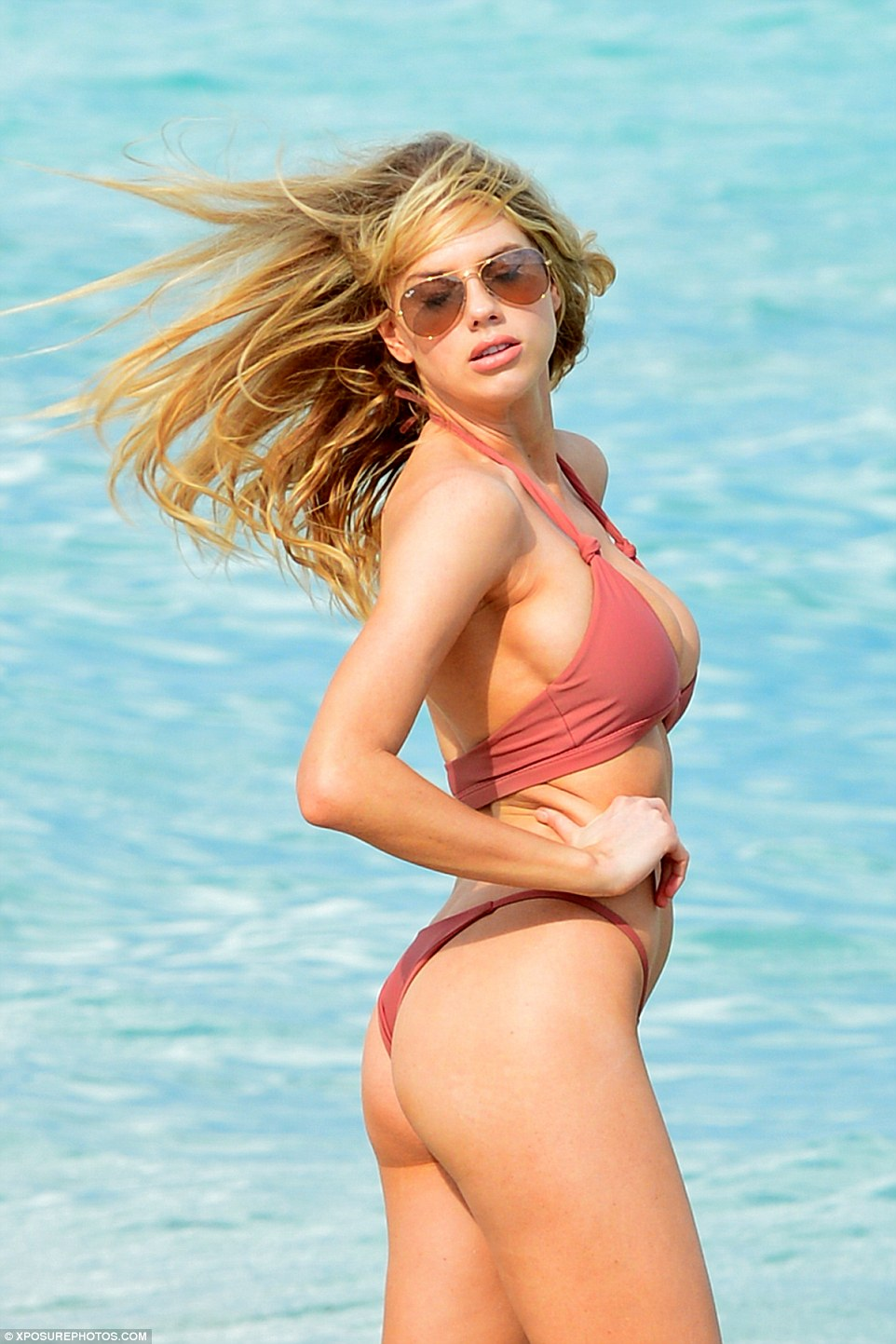 Charlotte McKinney turns up the heat on Miami beach