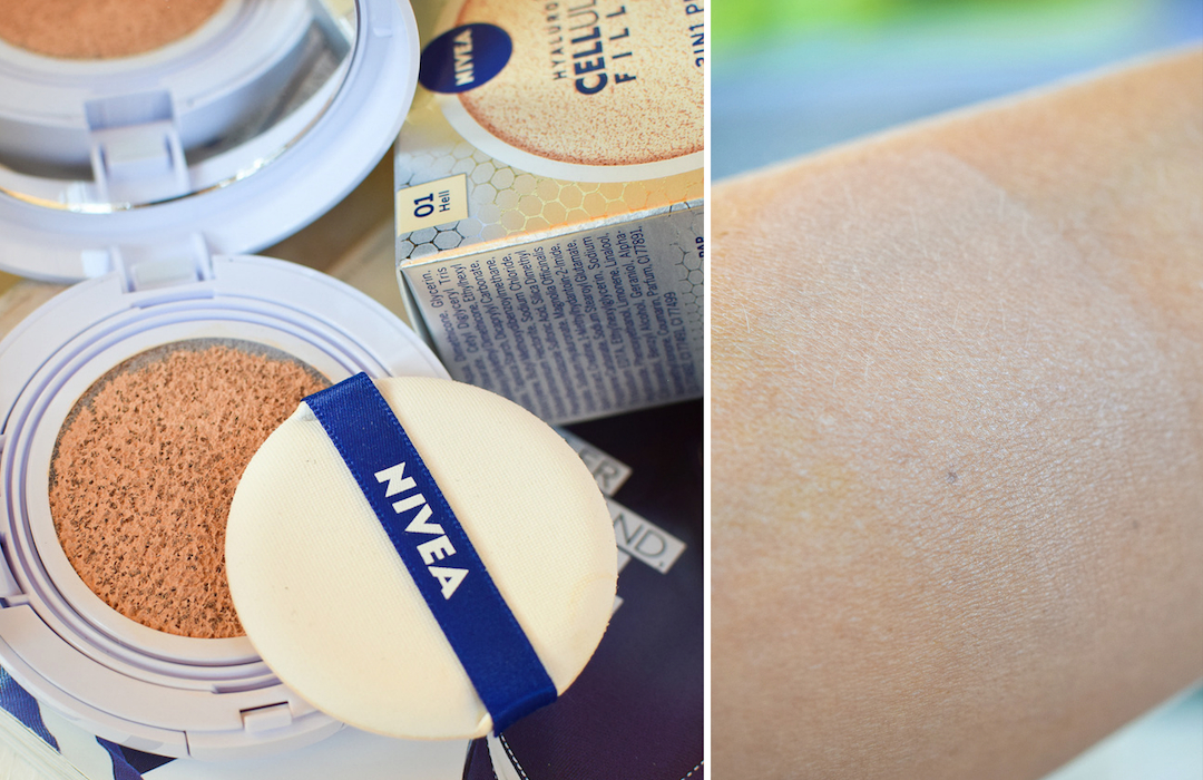 Review mit Swatch zu Nivea 3in1 Pflege Cushion
