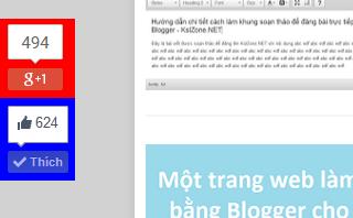 Thanh mạng xã hội trượt ra khi cuộn trang cho Blogger