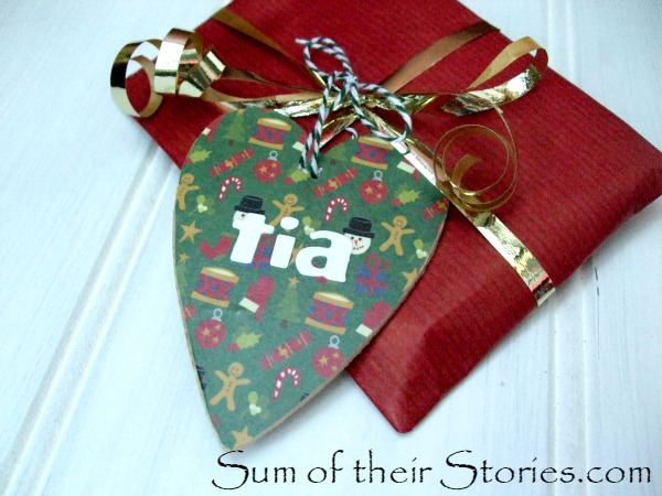Wooden Christmas Gift Tag keepsakes