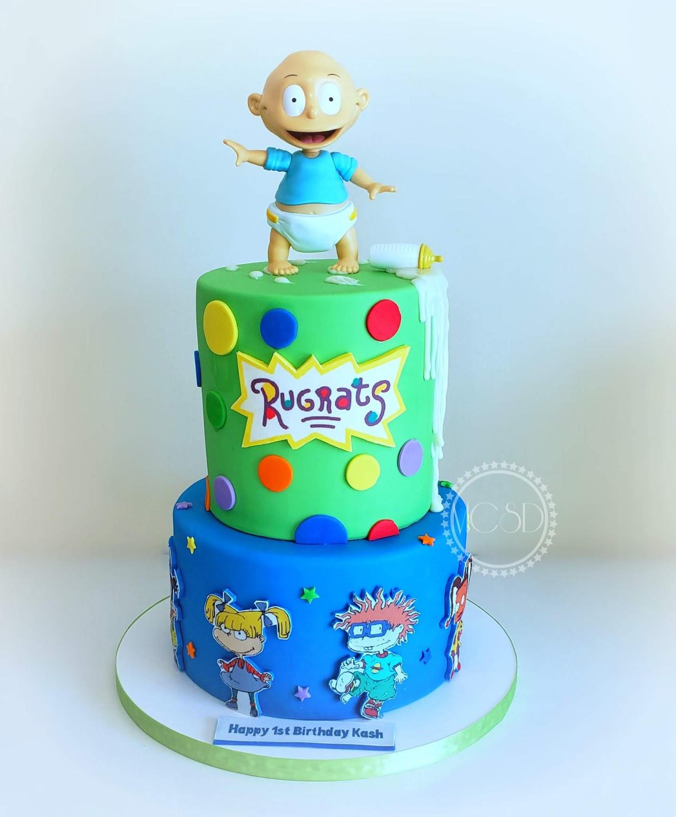 Peachy Cakesbyzana Rugrats 1St Birthday Cake Funny Birthday Cards Online Necthendildamsfinfo