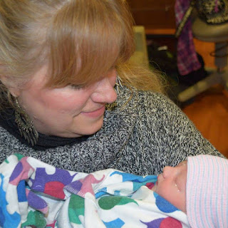 Carol Lawrence and her brand new granddaughter