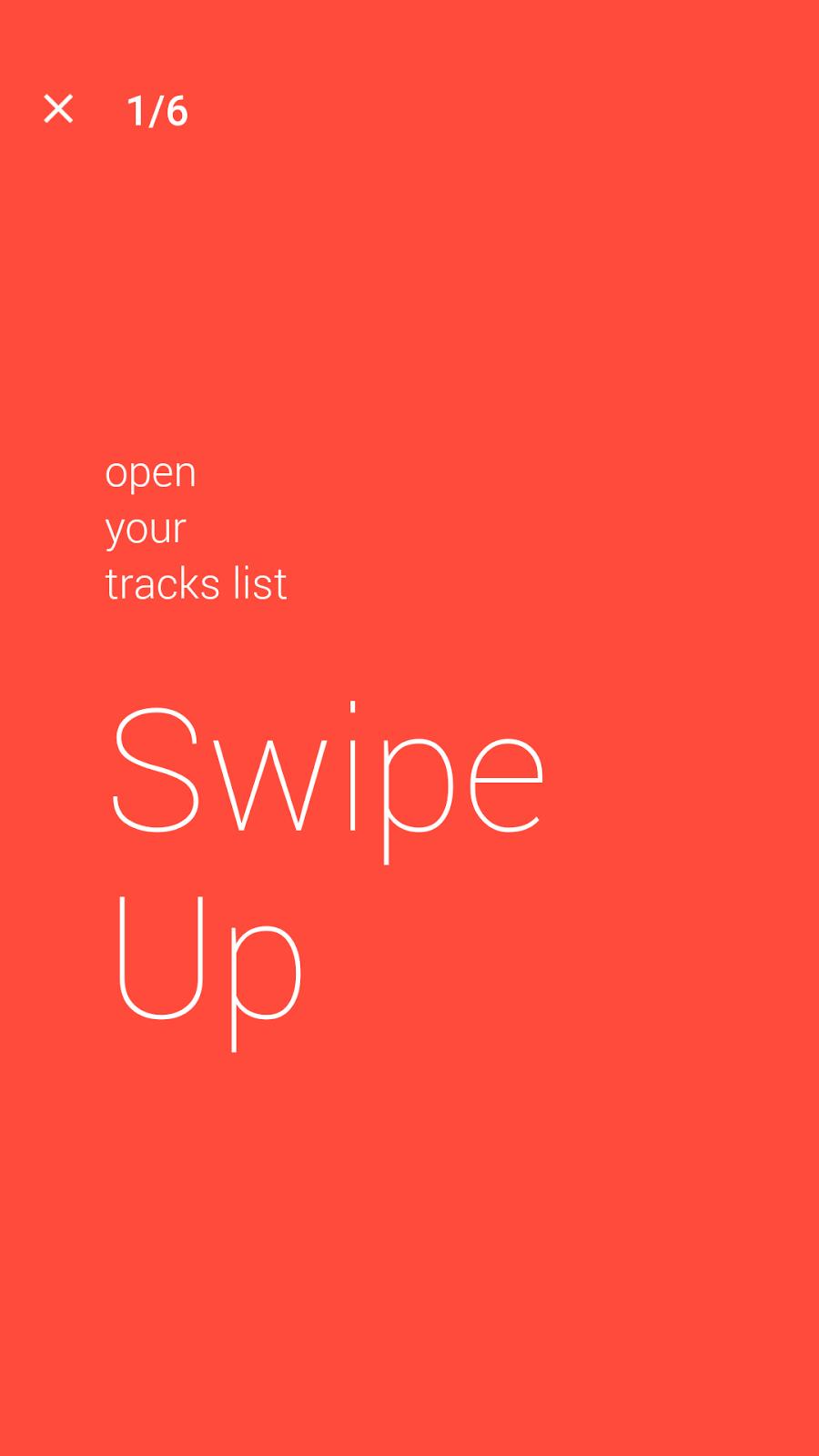 Swipe Up to see track list