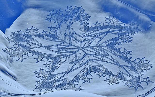 Madonnari en la nieve