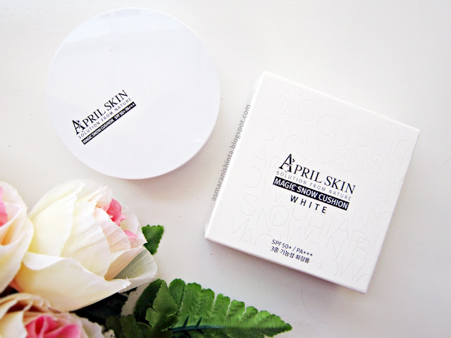 review april skin magic snow cushion white