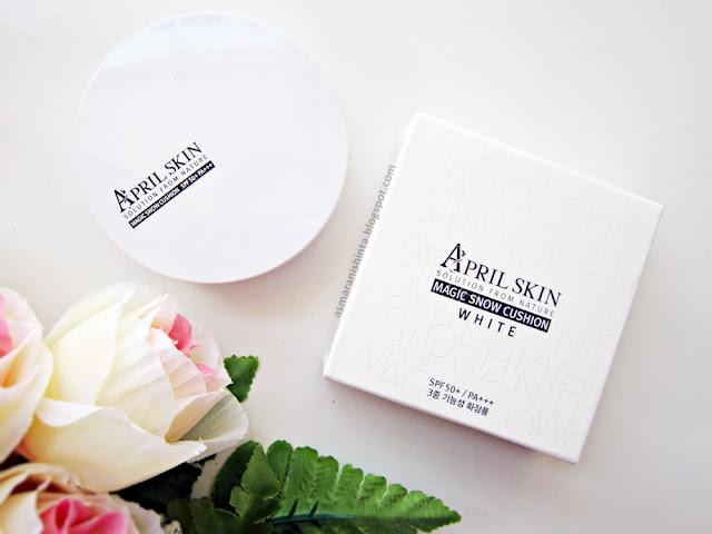 review april skin magic snow cushion white