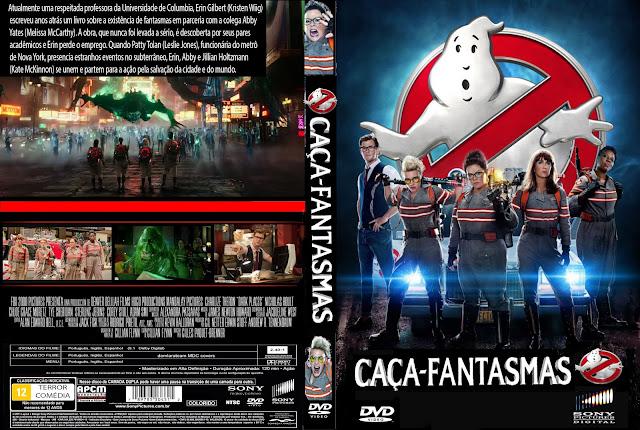 Capa DVD Caça Fantasmas (2016)