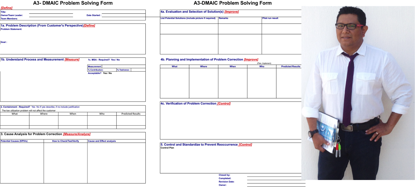 A on Toyota A3 Problem Solving Templates
