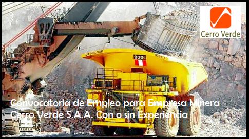 empleos en mineria sin experiencia