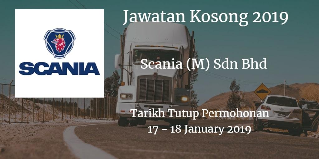 Jawatan Kosong Scania (M) Sdn Bhd 17 - 18 January 2019