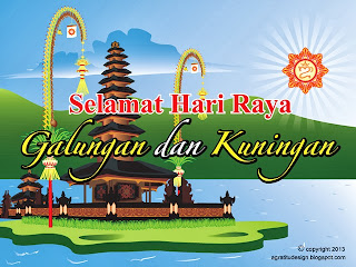 Balinese Greeting Cards Vector Graphic Design