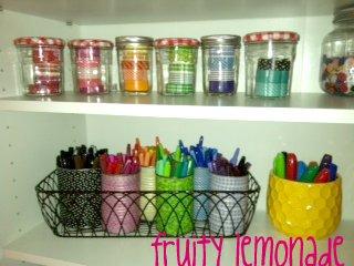 Fruity Lemonade: Day 10 Organizing Permanent Markers