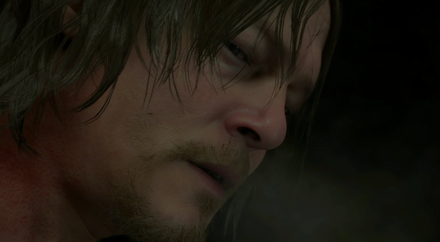 Sony PlayStation E3 2018 conference Death Stranding Norman Reedus Sam face hair