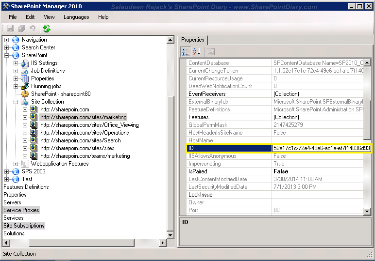 get list guid in sharepoint 2010